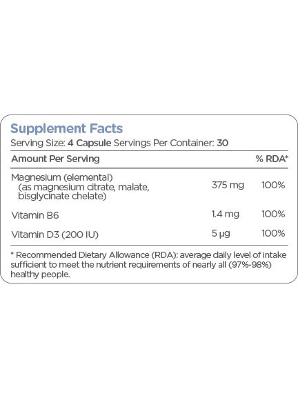 Golden TREE Magnesium Complex + vitamina B6 y vitamina D3